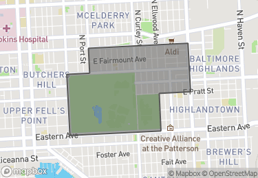 Map of Homes for Sale in Patterson Park