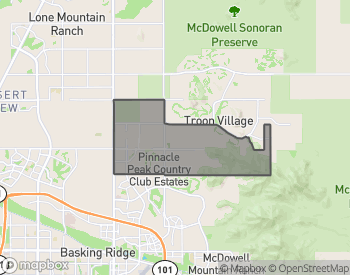 Map of Homes for Sale in Pinnacle Peak