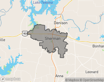 Map of Homes for Sale in Sherman