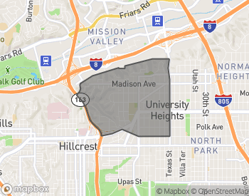 Map of Homes for Sale in University Heights