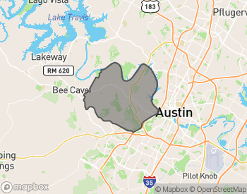 Map of Homes for Sale in West Austin