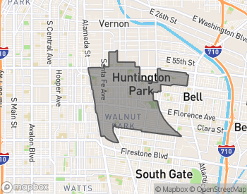 Map of Huntington Park
