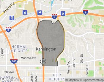 Map of Kensington