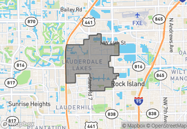 Map of Lauderdale Lakes