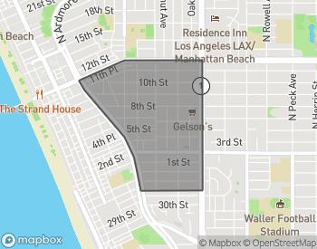 Map of Manhattan Beach Hill Section