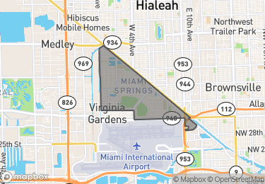 Map of Miami Springs
