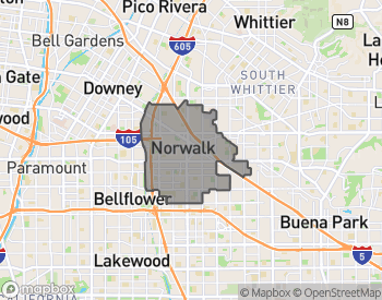 Map of Norwalk