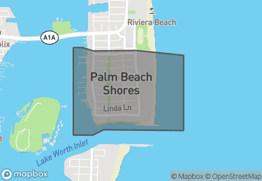 Map of Palm Beach Shores