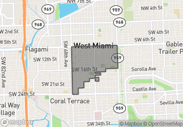 Map of West Miami