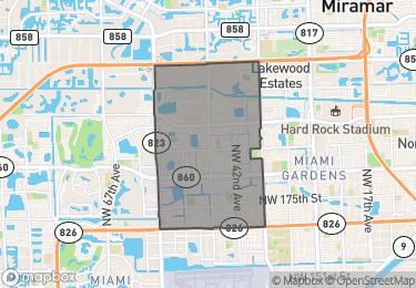 Map of Zip Code 33055