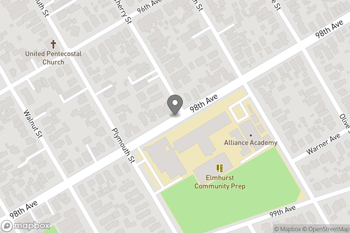 Map of Project: 98th Avenue & Cherry Street Pedestrian Island