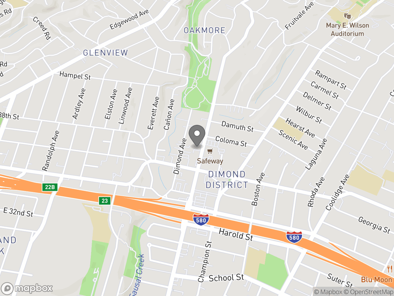 Map location for Equity Indicators Community Briefing # 4, located at 3565 Fruitvale Ave in Oakland, CA 94602