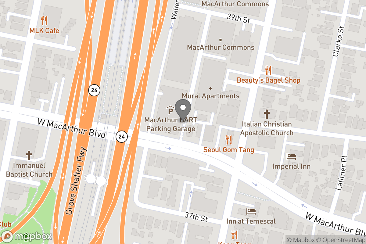 Map of Project: MacArthur BART Transit Village Project (MacArthur Station)
