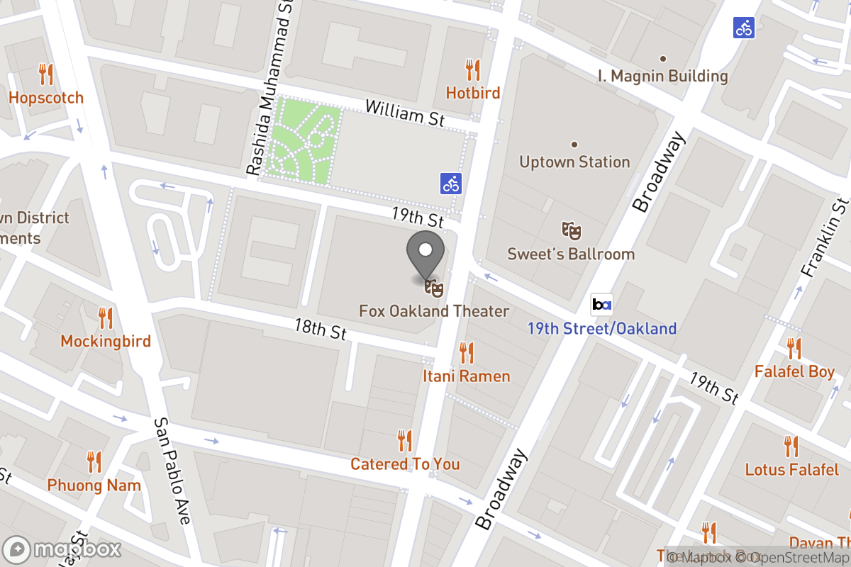 Map of Project: RFP for Property Management Services for the Fox Oakland Theater