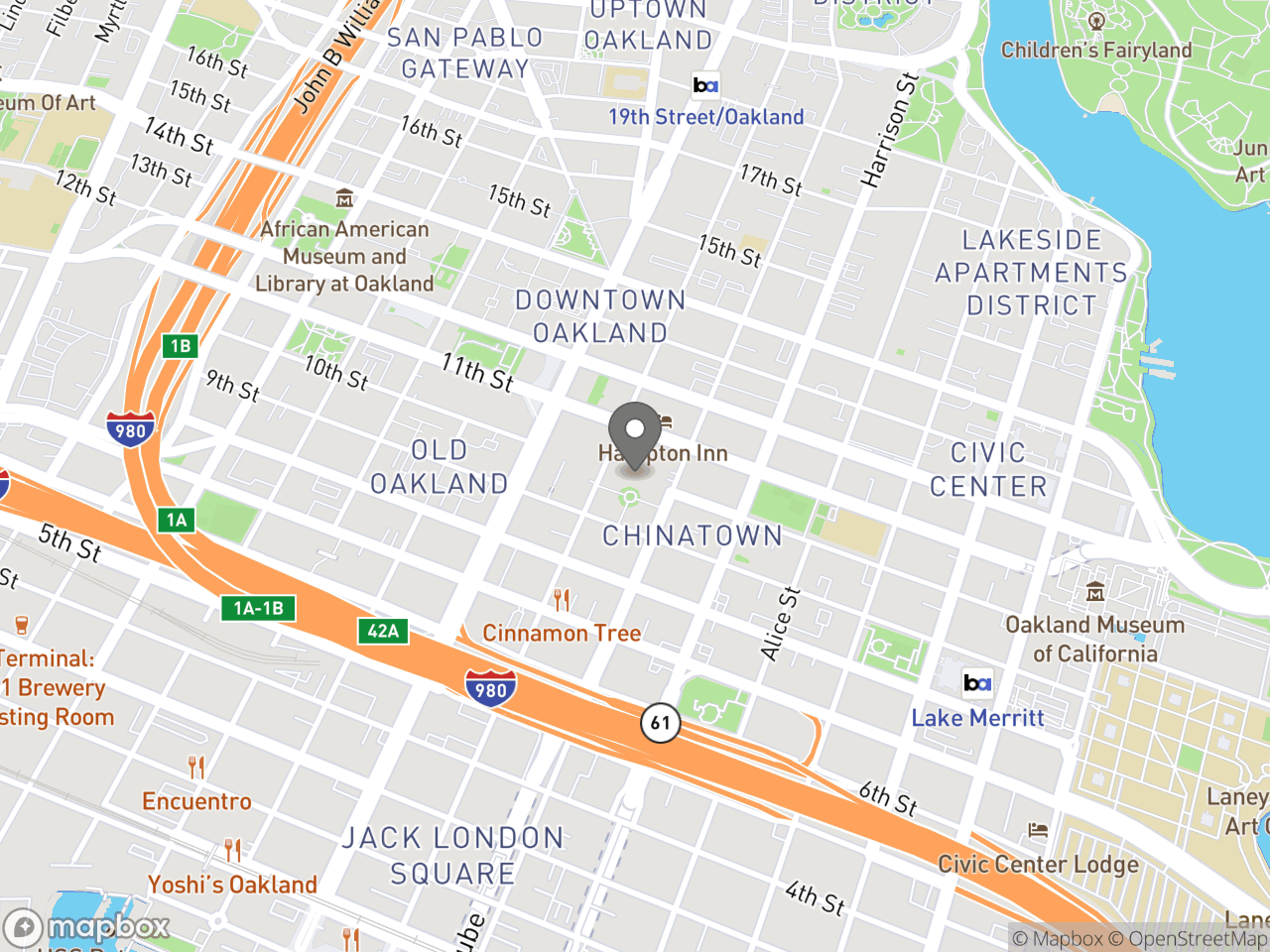 Map image for September 10, 2019 Chinatown Chamber Meeting - Downtown Oakland Specific Plan, located at 388 9th St in Oakland, CA 94607