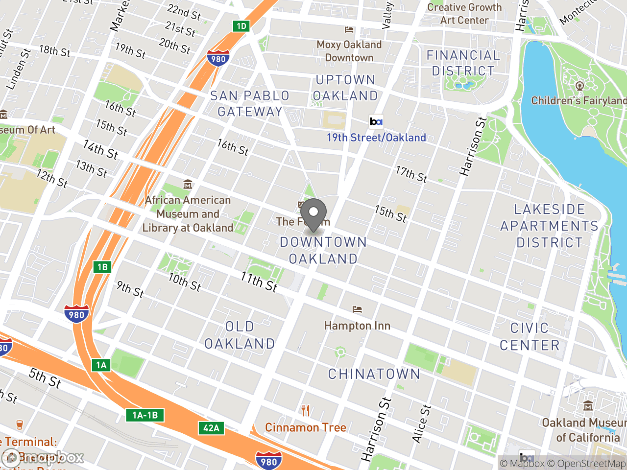 Map image for September 25, 2019 Oakland Chamber of Commerce - Downtown Oakland Specific Plan, located at 1333 Broadway in Oakland, CA 94612
