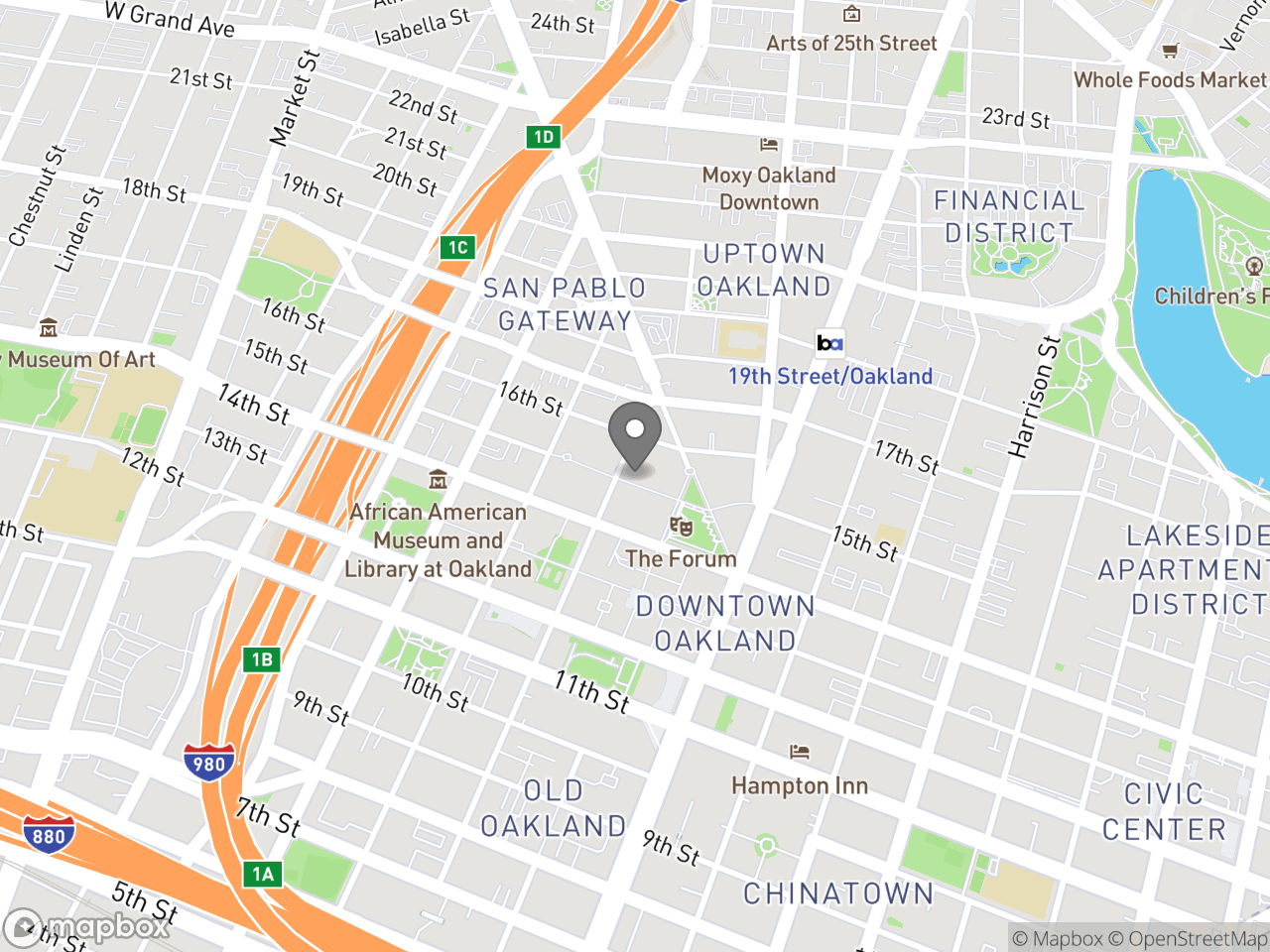 Map location for Oakland Business Assistance Center, located at 270 Frank H. Ogawa Plaza  in Oakland, CA 94612