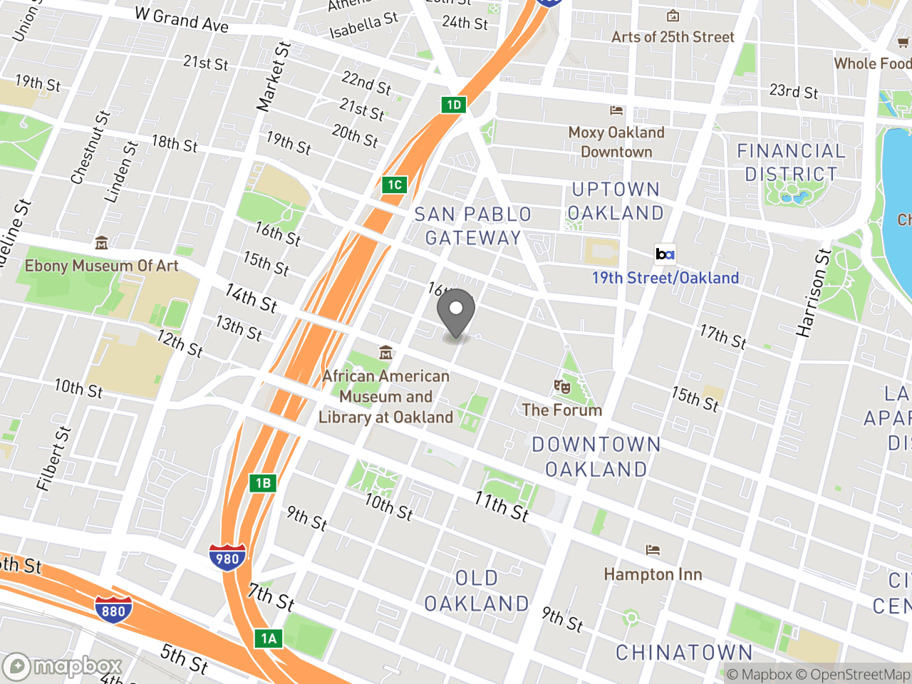 Map location for Impact Fees, located at 250 Frank H Ogawa Plaza in Oakland, CA 94612