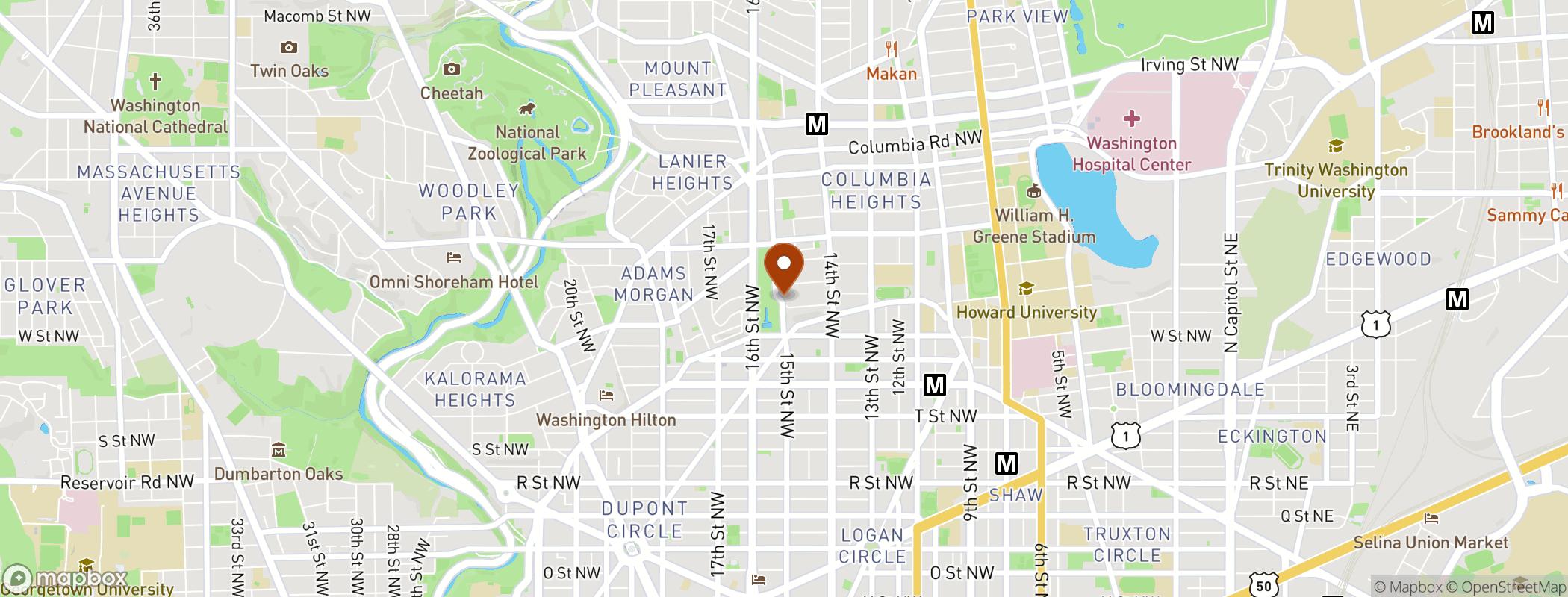 Map of <p>2325 15th Street, NW, Washington, DC 20009</p>