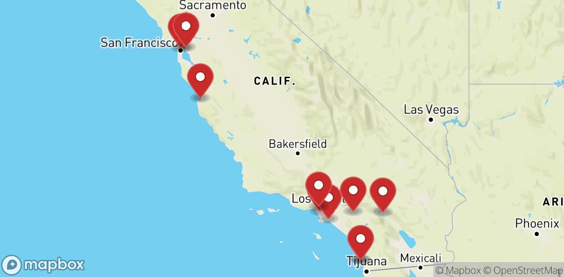 Verhuur van motorfietsen en scooters in California