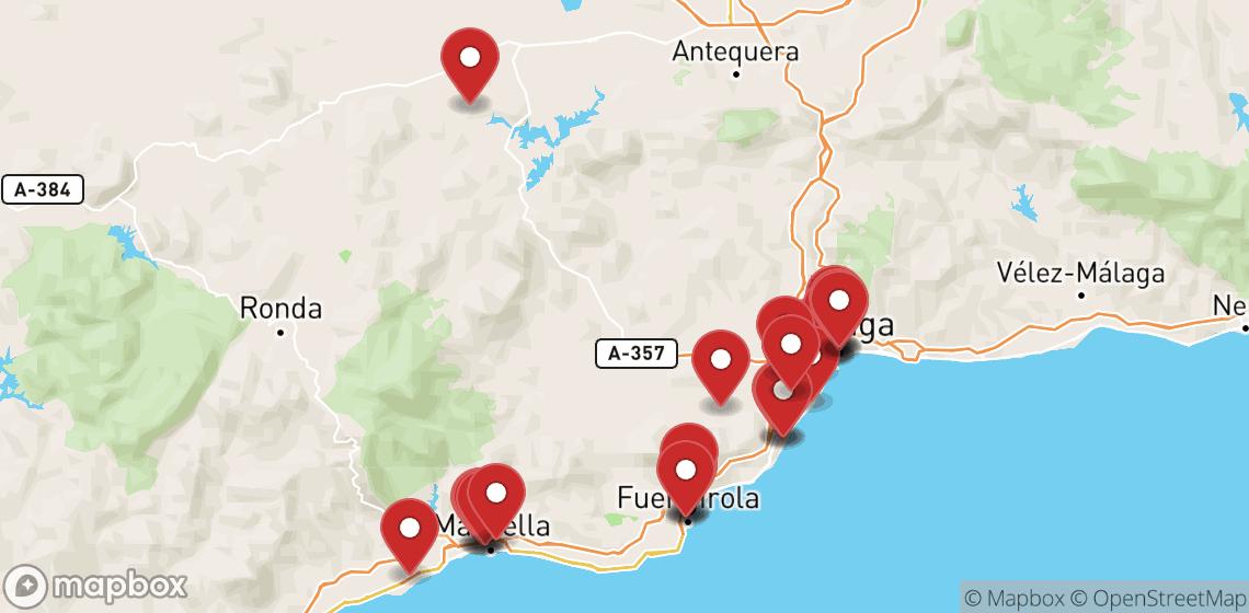 Alugueres de motas e scooters em Málaga
