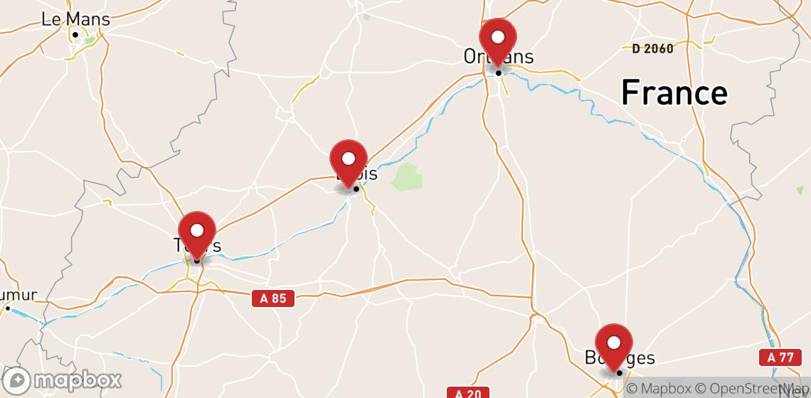 Alugueres de motas e scooters em Centre-Val de Loire
