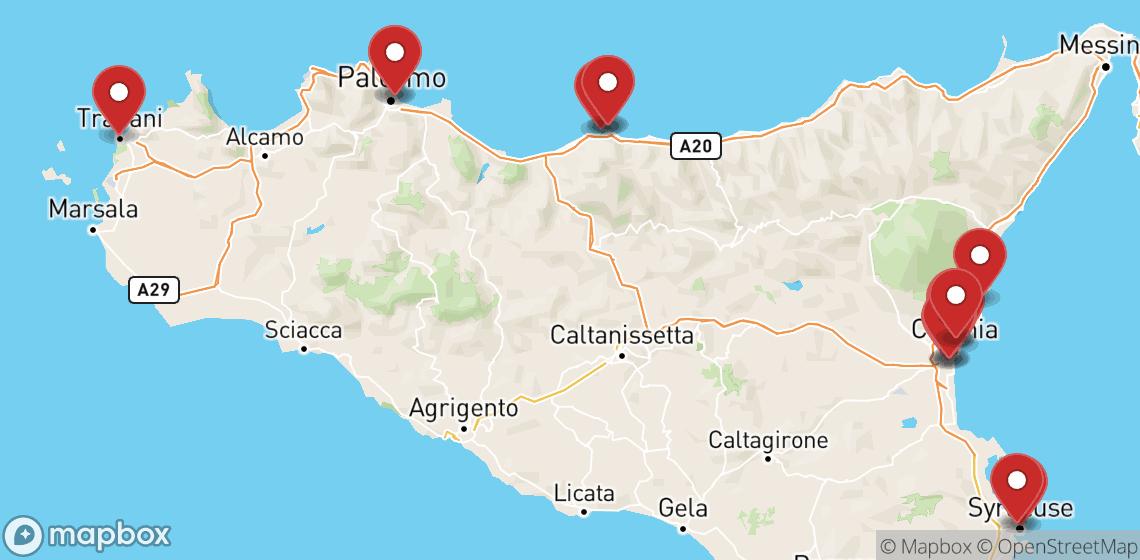 Motorsykkel- og scooterutleie i Sicilia