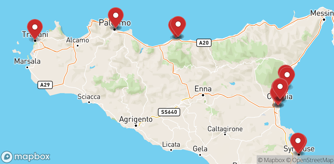 Motorcycle and scooter rentals in Sicily