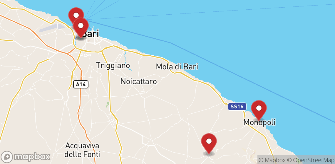 Location de motos et scooters à Bari