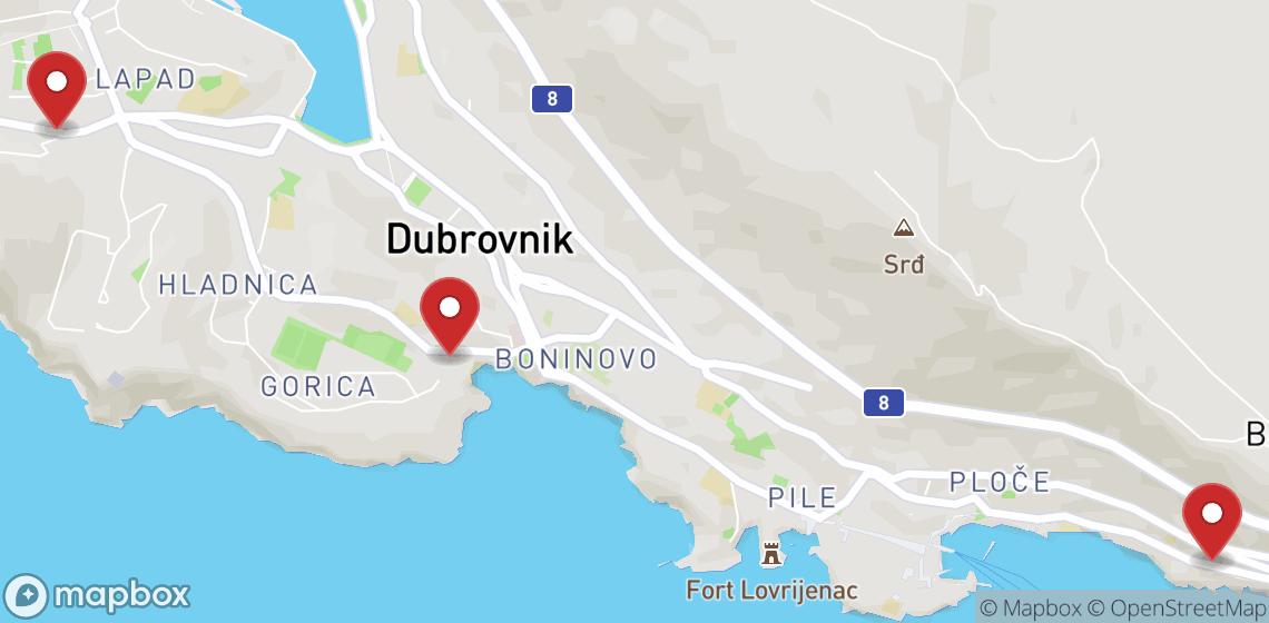 摩托车租车: 杜布罗夫尼克