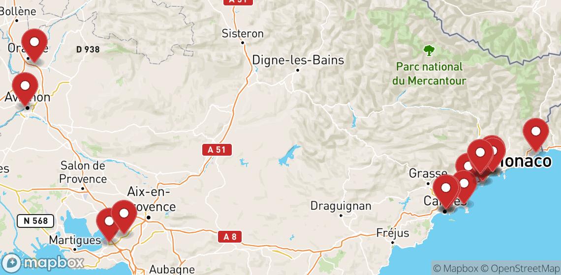 Verhuur van motorfietsen en scooters in Provence-Alpes-Côte d'Azur