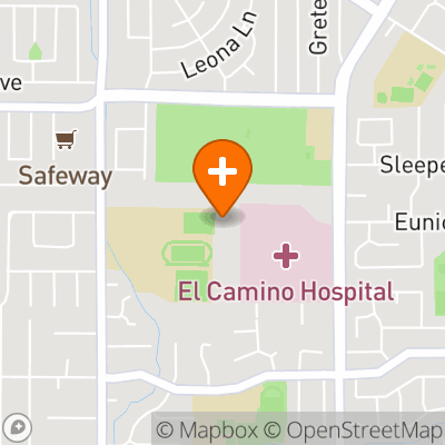 Map to El Camino Health Primary Care