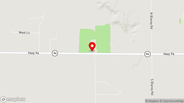 Google Map of 12750 State HWY 94, Colorado Springs, CO 80929