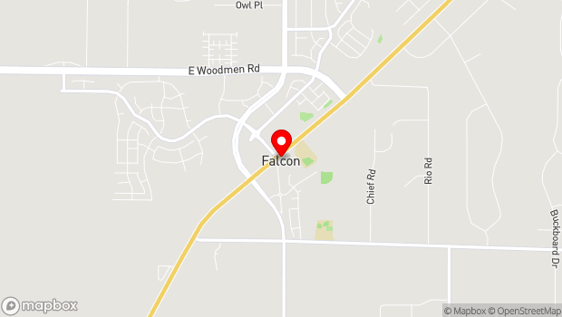 Google Map of 7035 Meridian Road, Peyton, CO 80831