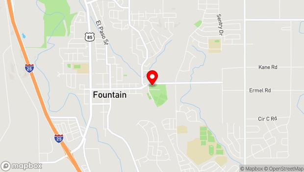 Google Map of 704 E. Ohio Avenue, Fountain, CO 80817
