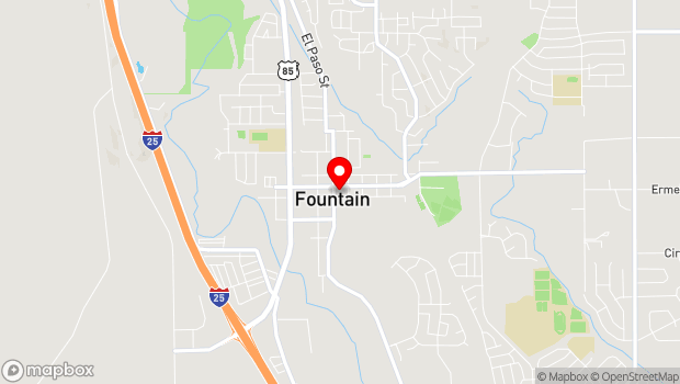 Google Map of 116 S. Main St., Fountain, CO 80817