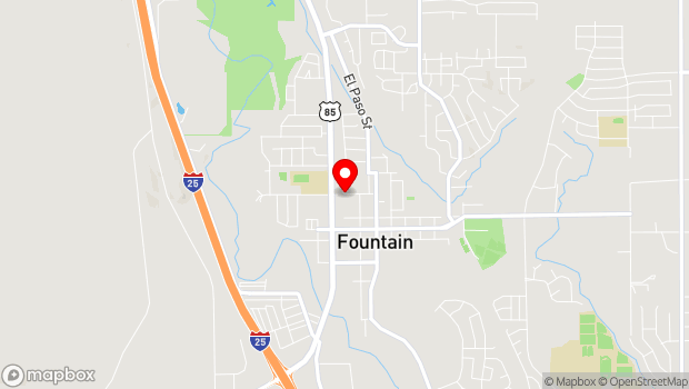 Google Map of 326 W. Alabama Ave, Fountain, CO 80817