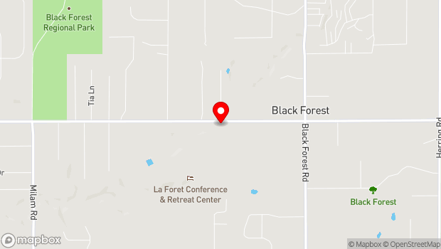 Google Map of 6145 Shoup Rd., Black Forest, CO 80908