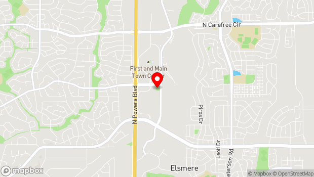 Google Map of 3035 New Center Point, Colorado Springs, CO 80922