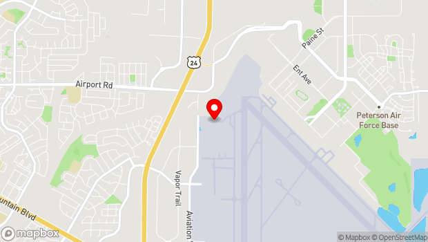 Google Map of 755 Aviation Way, Colorado Springs, CO 80908