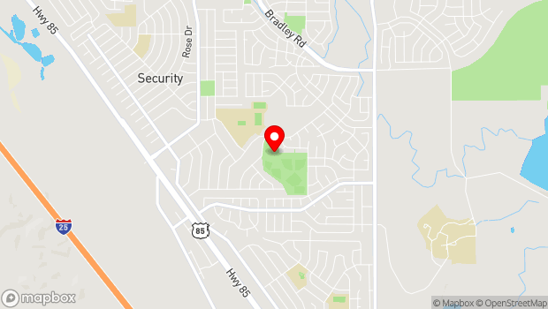Google Map of 705 Aspen Drive, Colorado Springs, Colorado 80911
