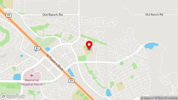 Google Map of 11795 Grand Lawn Circle, Colorado Springs, CO 80924