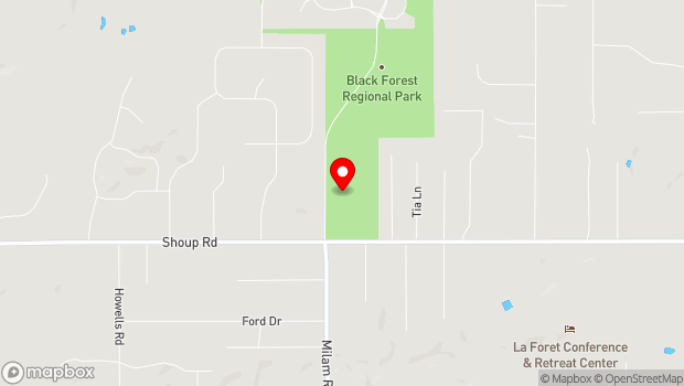 Google Map of 4800 Shoup Road, Colorado Springs, CO 80908