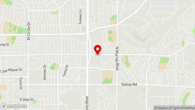 Google Map of 3971 Palmer Park Blvd., Colorado Springs, CO 80909