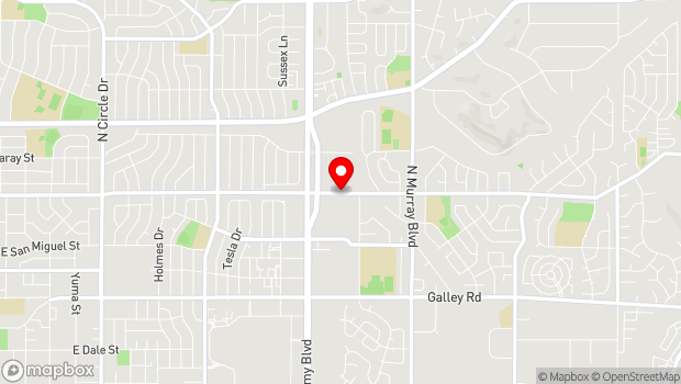 Google Map of 3960 Palmer Park Blvd., Colorado Springs, CO 80909