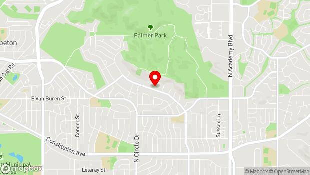 Google Map of 2577 N Chelton Rd, Colorado Springs, CO