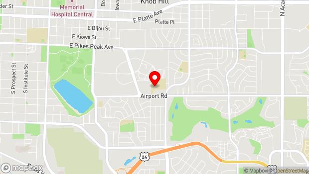Google Map of 2512 Airport Road, Colorado Springs, CO 80910