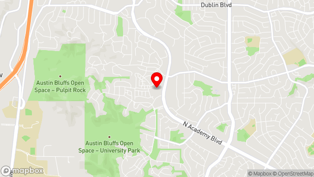 Google Map of 5670 N. Academy Blvd., Colorado Springs, CO 80918