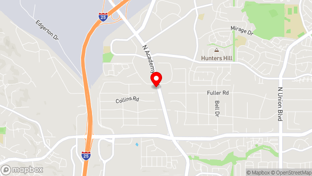 Google Map of 7560 N Academy Blvd, Colorado Springs, CO 80920