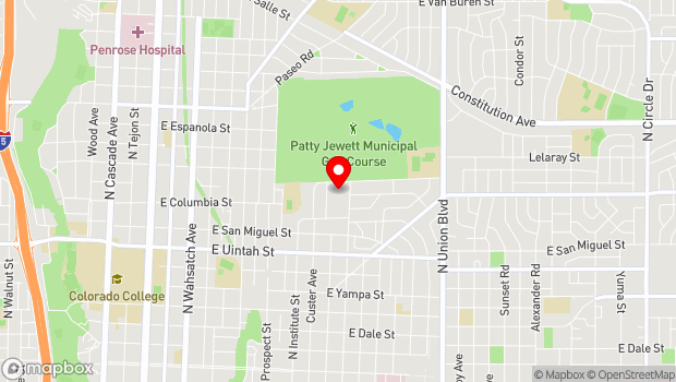 Google Map of 1506 N. Hancock Ave., Colorado Springs, CO 80903